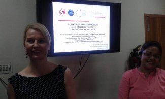 Wykłady drAleksandry Jarczewskiej wUniversity of Calcutta wramach grantu MSZ