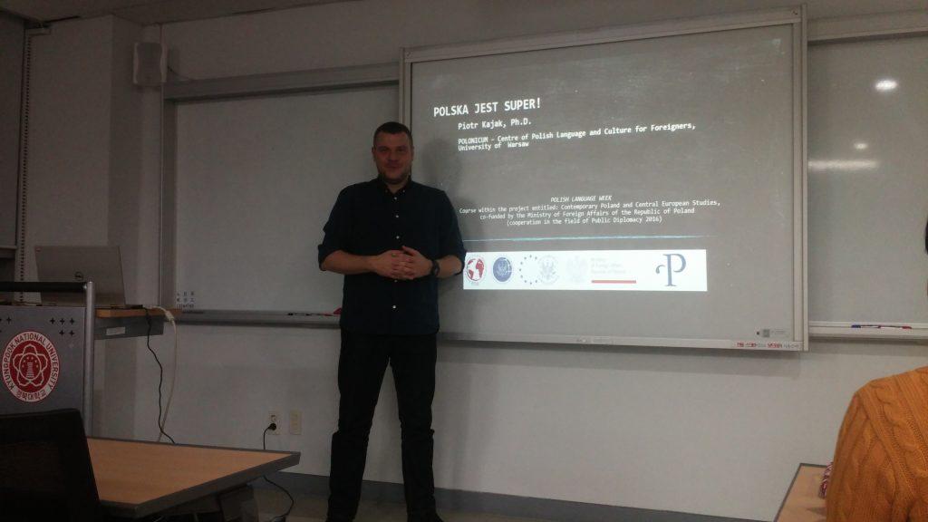 Wykłady dr. Piotra Kajaka w Kyungpook National University