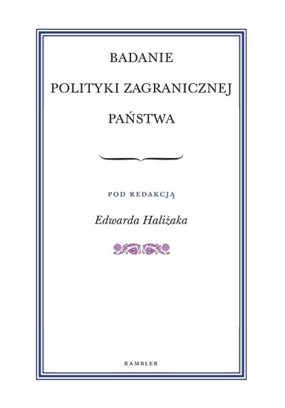 Badanie Polityki Zagranicznej Państwa